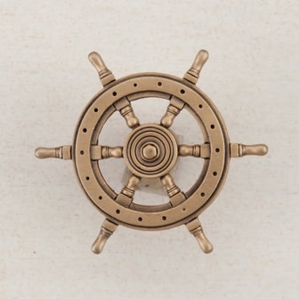 Acorn Manufacturing Ship Wheel Cabinet Knob Museum Gold