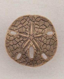 Acorn Manufacturing Sand-dollar Cabinet Knob Museum Gold