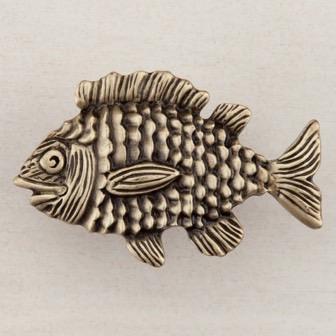 Acorn Manufacturing Cabinet Hardware 1 5/8u2033 Fun Fish Cabinet Knob U2013 Antique  Brass