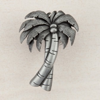 Acorn Manufacturing Palm Tree Cabinet Knob Antique Pewter