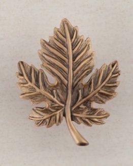 Acorn Manufacturing Leaf Cabinet Knob Museum Gold