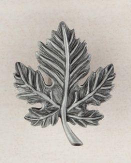 Acorn Manufacturing Leaf Cabinet Knob Antique Pewter