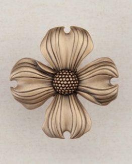 Acorn Manufacturing Dogwood Cabinet Knob Museum Gold