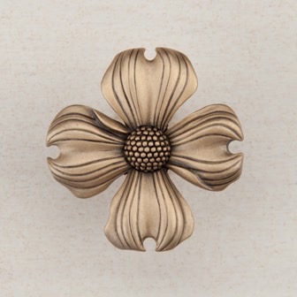 Acorn Manufacturing Dogwood Cabinet Knob Museum Gold