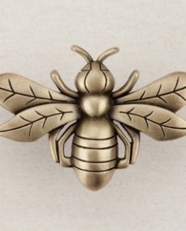 Acorn Manufacturing Bee Cabinet Knob Antique Brass