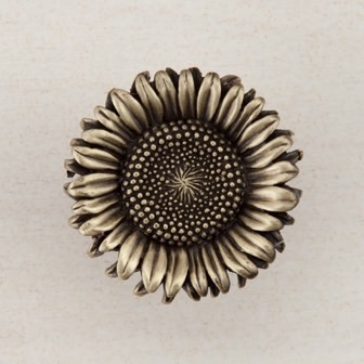 Acorn Manufacturing Sunflower Cabinet Knob Antique Pewter