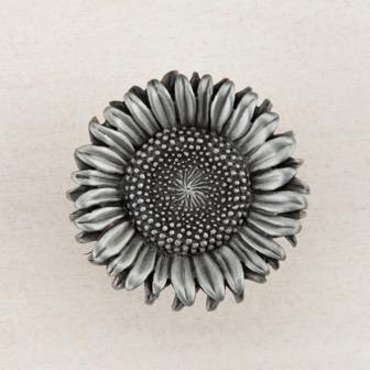Acorn Manufacturing Sunflower Antique Pewter Cabinet Knob