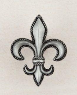 Acorn Manufacturing Fleur-De-Lis Cabinet Knob Antique Pewter