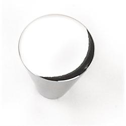 Laurey Cabinet Knobs, 1u2033 Large Cone Knob  Polished Chrome