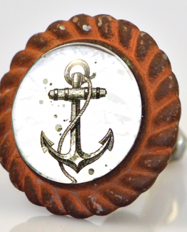 Charleston Knob Company Ships Anchor Iron Base Cabinet Knob