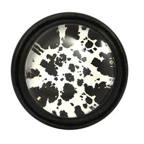 Charleston Knob Company Black White Cow Hide Pattern Cabinet Knob