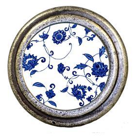 Charleston Knob Company Blue White Floral Cabinet Knob