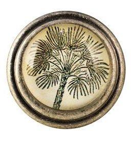Charleston Knob Company Palm Tree Silver Base Cabinet Knob
