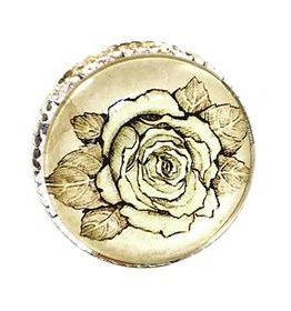 Charleston Knob Company Retro Metal Rose Cabinet Knob