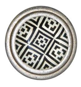 Charleston Knob Company Black White Geometric Cabinet Knob
