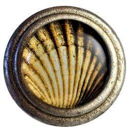 Charleston Knob Company Scallop Shell Silver Base Cabinet Knob