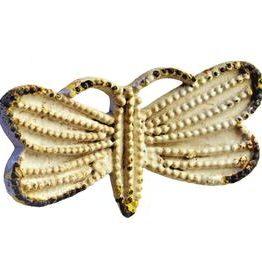 Charleston Knob Company Iron Whitewashed Butterfly Cabinet Knob