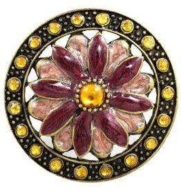 Charleston Knob Company Fuchsia Petal Cloisonné Jewel Cabinet Knob