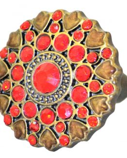 Charleston Knob Company Ruby Cloisonné Jewel Cabinet Knob