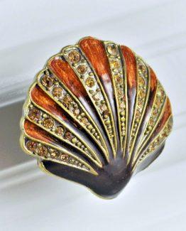 Charleston Knob Company Scallop Shell Cloisonné Jewel Cabinet Knob