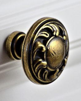 Charleston Knob Company Antique Copper Sun Cabinet Knob