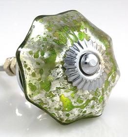 Charleston Knob Company Glass Parasol Green Cabinet Knob