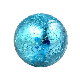 Charleston Knob Company Crackled Glass Blue Ball Cabinet Knob