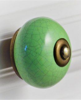 Charleston Knob Company Crackled Green Cabinet Knob