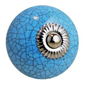 Charleston Knob Company Crackled Robins Egg Blue Cabinet Knob