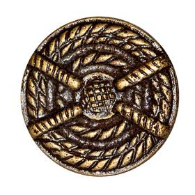 Charleston Knob Company Antique Copper Cabinet Knob - Coiled Rope