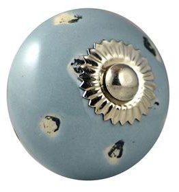 Charleston Knob Company Blue Grey Ceramic Cabinet Knob