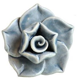 Charleston Knob Company Five Leaf Flower Ceramic Cabinet Knob