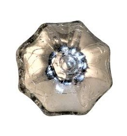 Charleston Knob Company Silver Crackled Glass Parasol Cabinet Knob