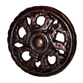 Charleston Knob Company Antique Wheel Rustic Cabinet Knob