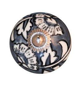 Charleston Knob Company Hand Painted Ceramic Cabinet Knob
