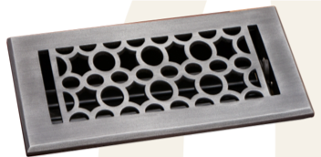 Deco & Deco 4X10 Cast Aluminum Art-Deco Floor Register Oil Rubbed Bronze