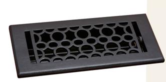 Deco & Deco 4X10 Cast Iron Art-Deco Floor Register Black