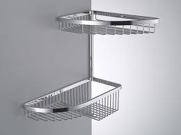 Colombo Designs Small Double Corner Shower Basket - Chrome