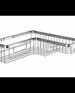 Colombo Designs Large L-Shaped Corner Shower Basket -Chrome