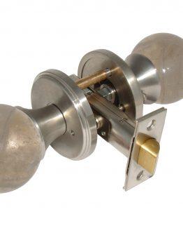 Gemstone Hardware Door Knob Smokey Quartz Satin Stainless Steel Passage