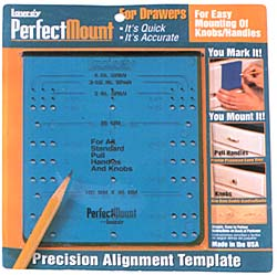 Laurey Perfect Mount Knob & Pull Template for Cabinet Drawers